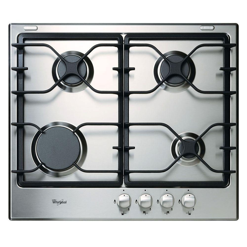 Whirlpool 24 in. Gas Cooktop in Stainless Steel with 4 Burners