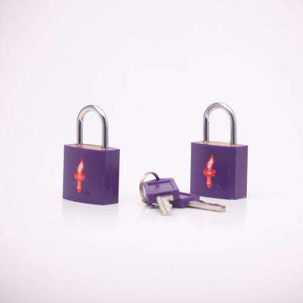 TSA Recognized Padlocks in Neon Purple