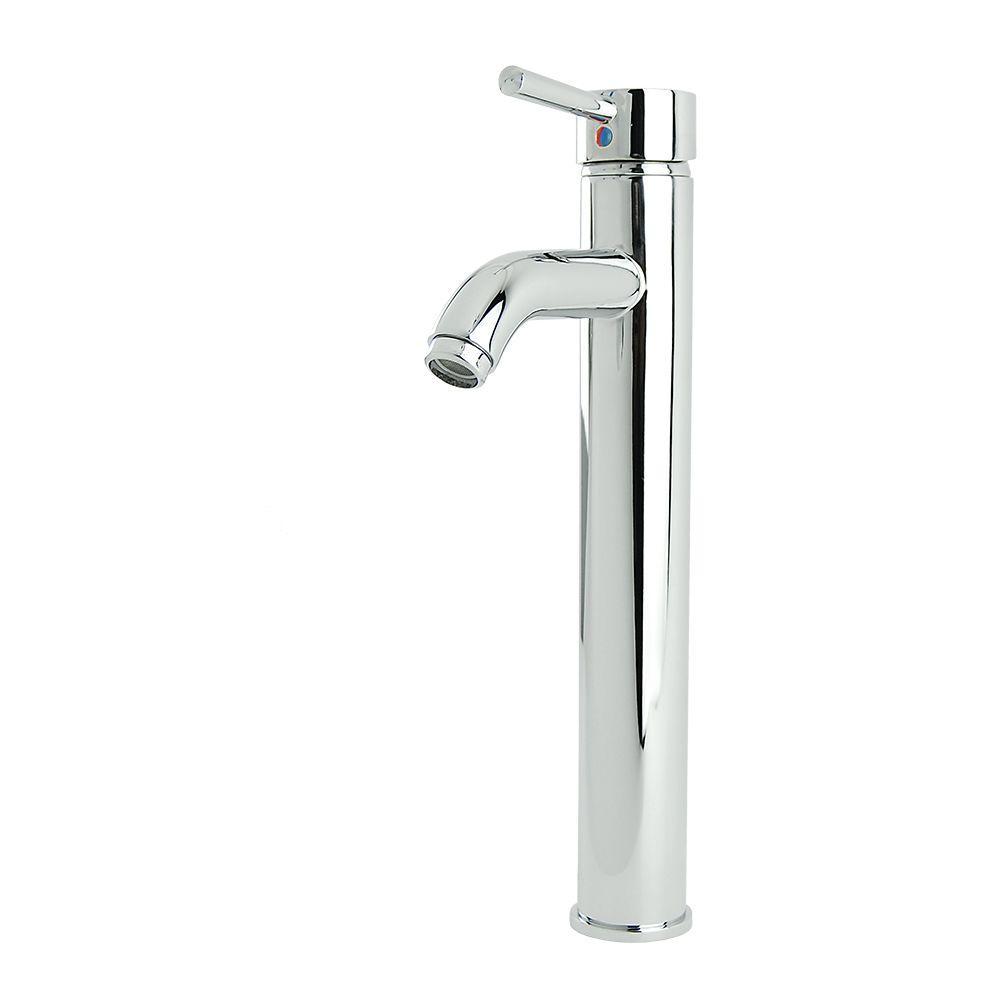 Fontaine Ultime European Single Hole Single-Handle High Arc Vessel Bathroom Faucet in Chrome