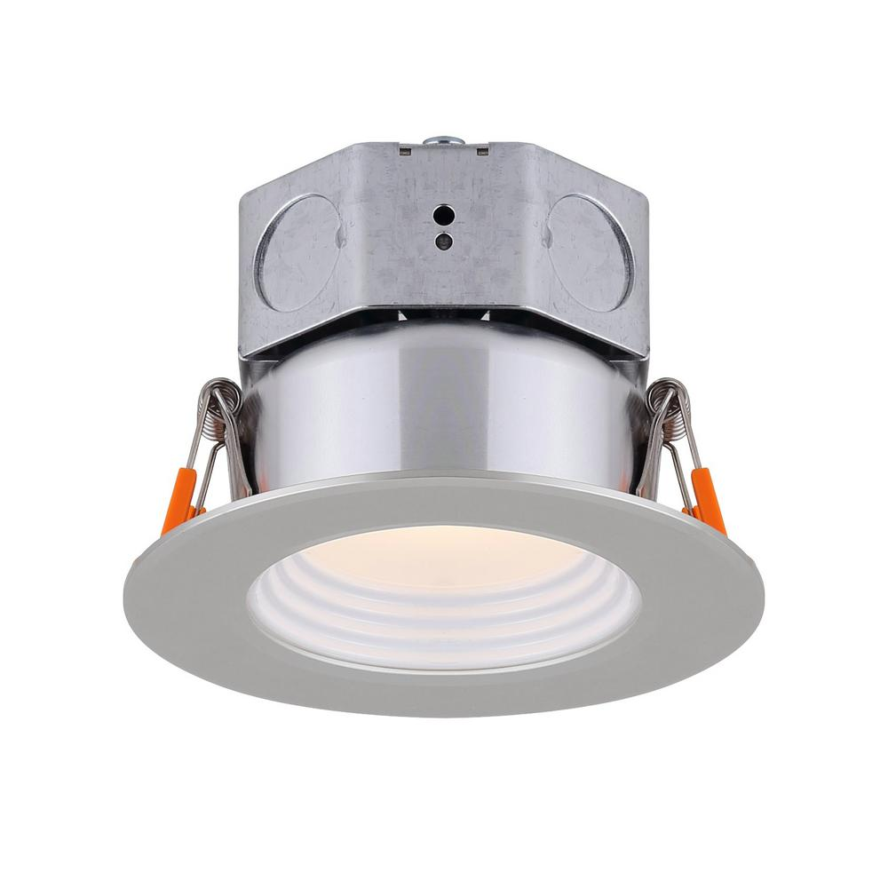 Brushed Nickel Integrated Led Recessed Kit