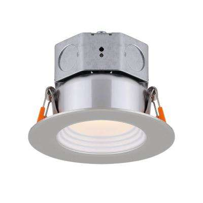 3 in. Brushed Nickel Integrated LED Recessed Kit