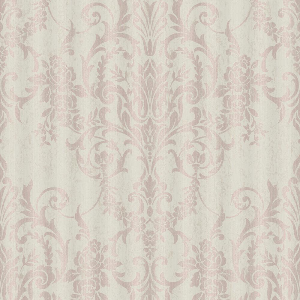 Victorian Mural Wallpaper: Graham & Brown Empress Victorian Damask Rose Gold