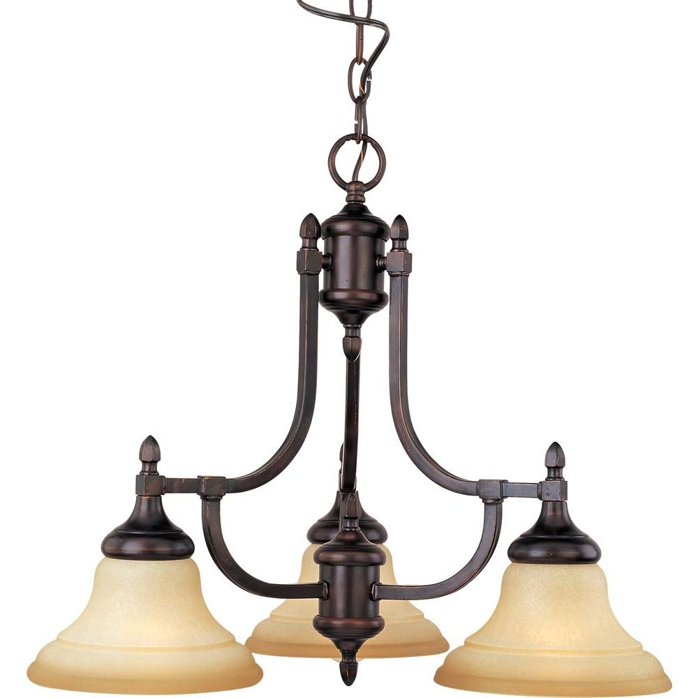 Illumine Northwest 3-Light Oil Rubbed Bronze Down Mini Chandelier