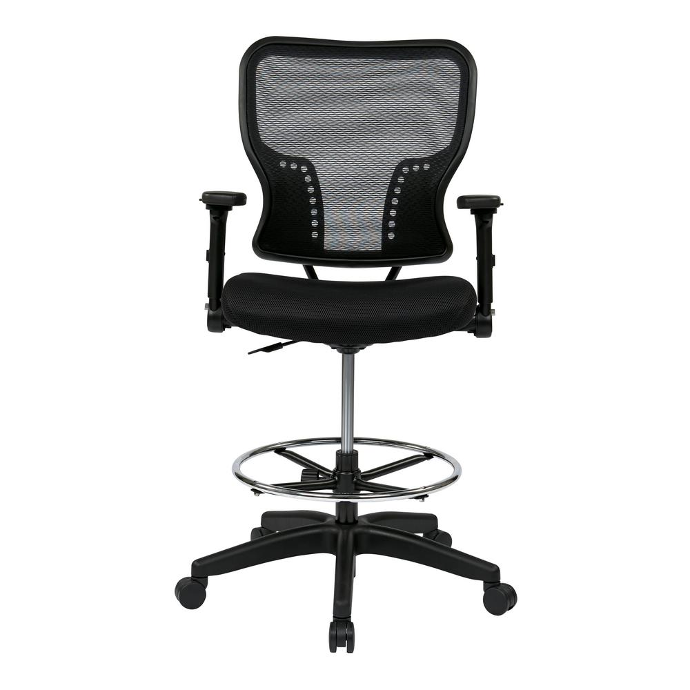Space Seating Deluxe Air Grid Back And Padded Mesh Seat Chair