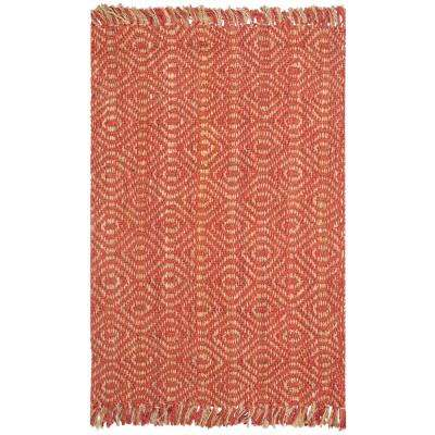 Natural Fiber Rust 8 ft. x 10 ft. Area Rug