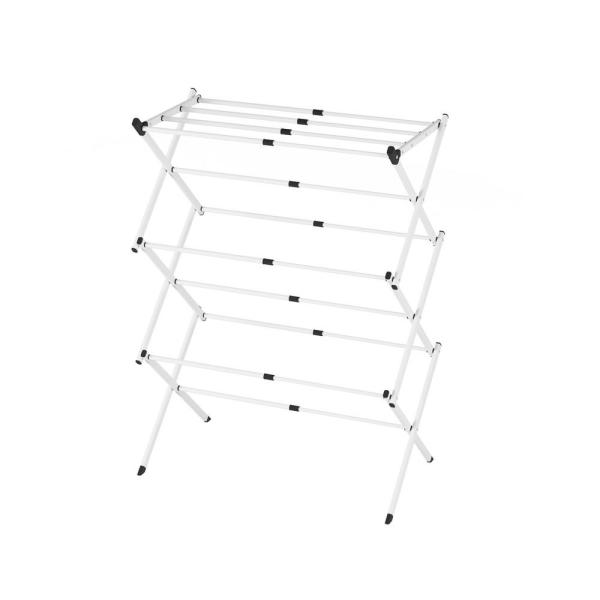 15 in. W x 40 in. H White Steel Drying Rack