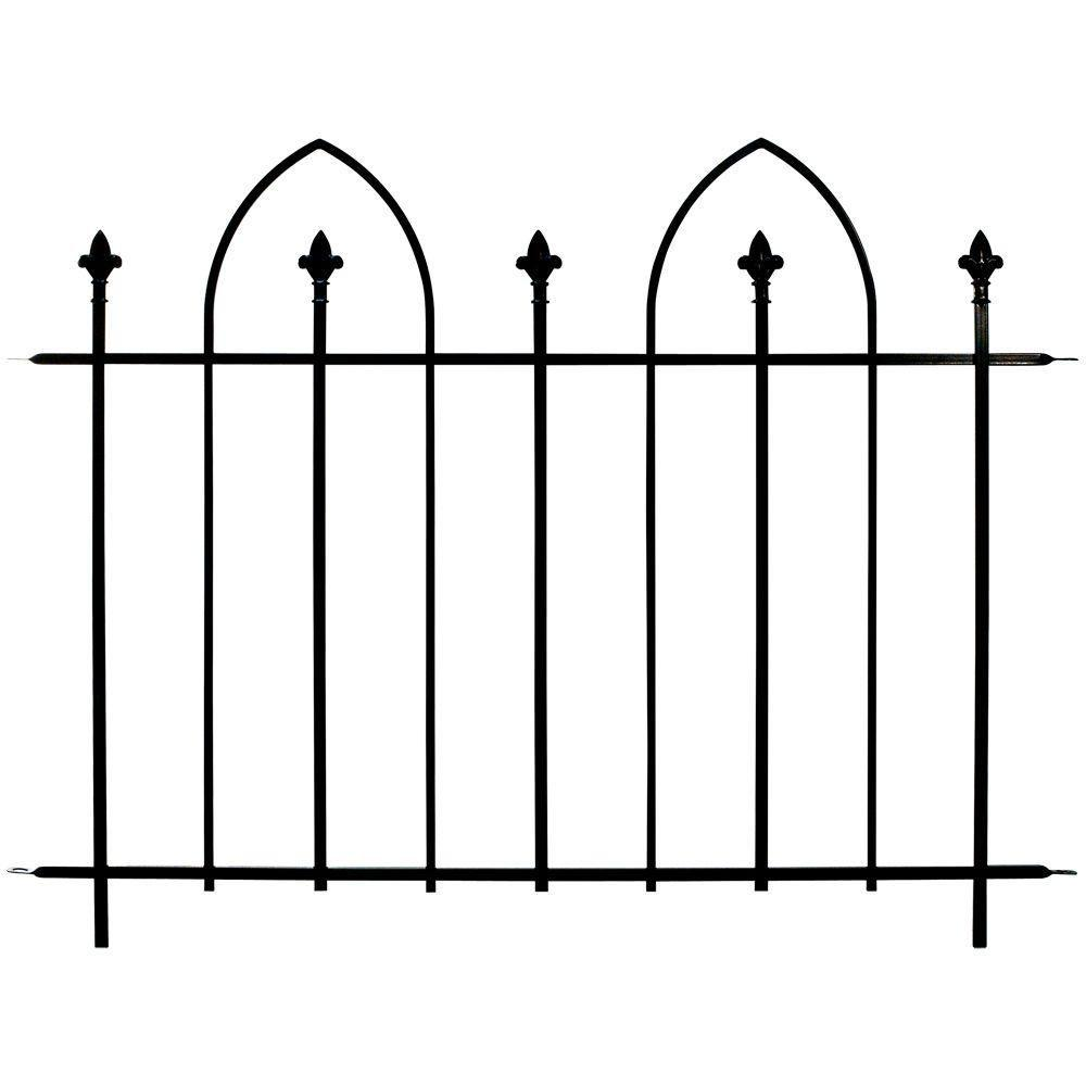 48 in. Wide Steel Bristol Fence Panel (8-Panels per Case/384 linear