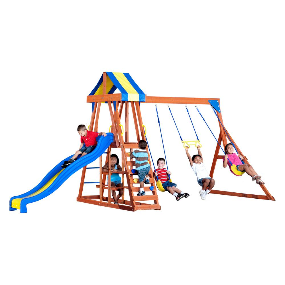 Backyard Discovery Yukon III All Cedar Playset