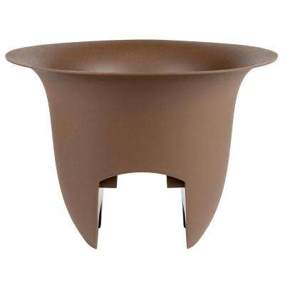 12 x 8.75 Chocolate Modica Plastic Deck Rail Planter
