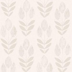 Internet 205489403 Beacon House Scandinavian Grey Block Print Tulip Wallpaper Sample