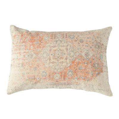 Multicolor Distressed Lumbar 24 in. x 16 in. Throw Pillow