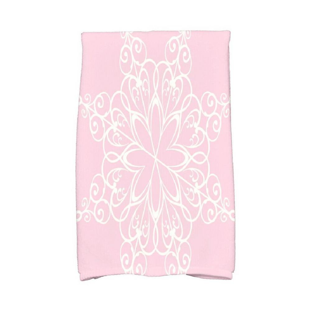 E by Design 16 in. x 25 in. Light Pink Snowflake Holiday Geometric Print Kitchen Towel Spice up your decor with stylish kitchen towels. E by Design's kitchen towel collection includes a variety of fashionable and aesthetic designs you're sure to love. Our kitchen towels are just what you need to complete your kitchen decor. Color: Light Pink.
