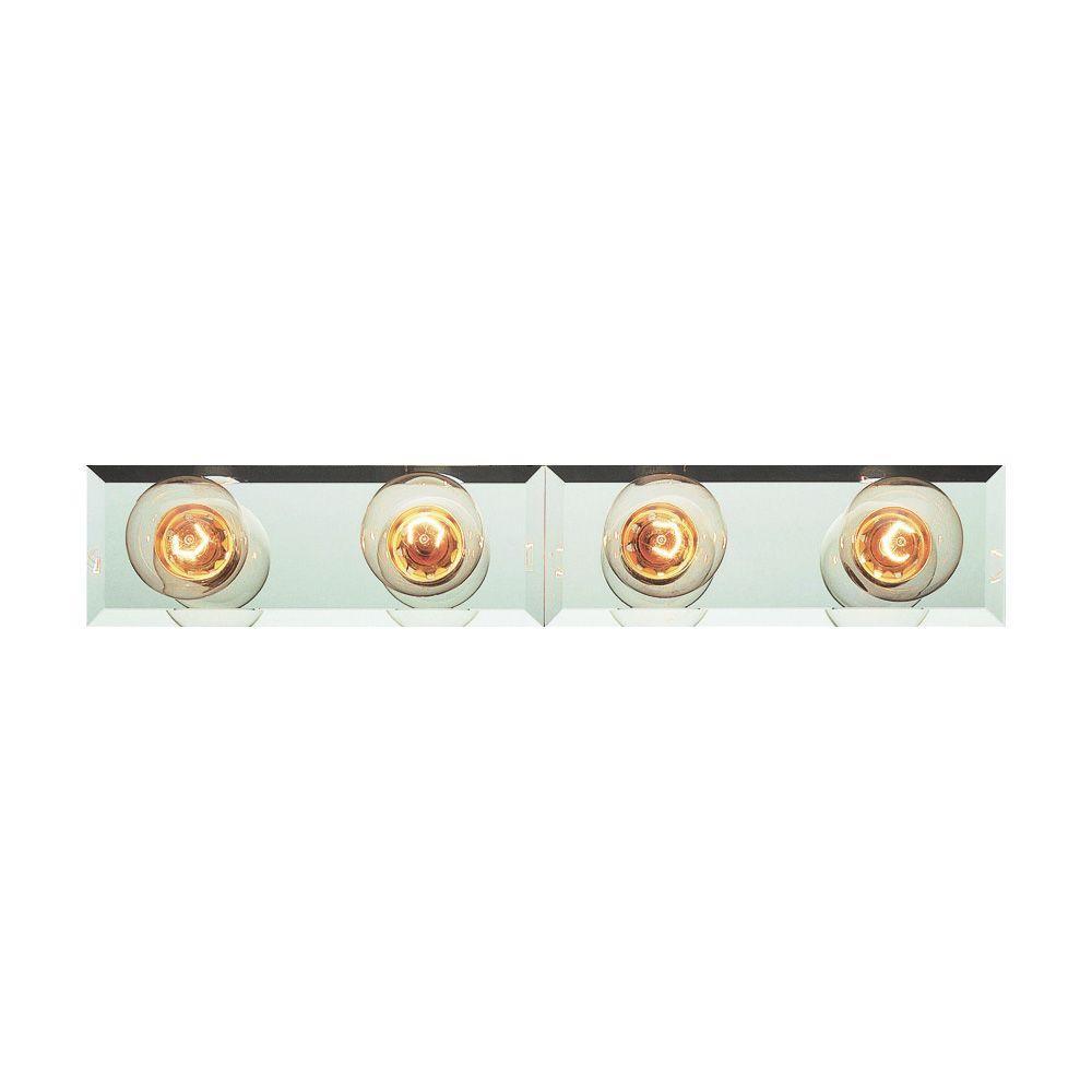 Cabernet Collection 4-Light Brushed Nickel Bath Bar Light