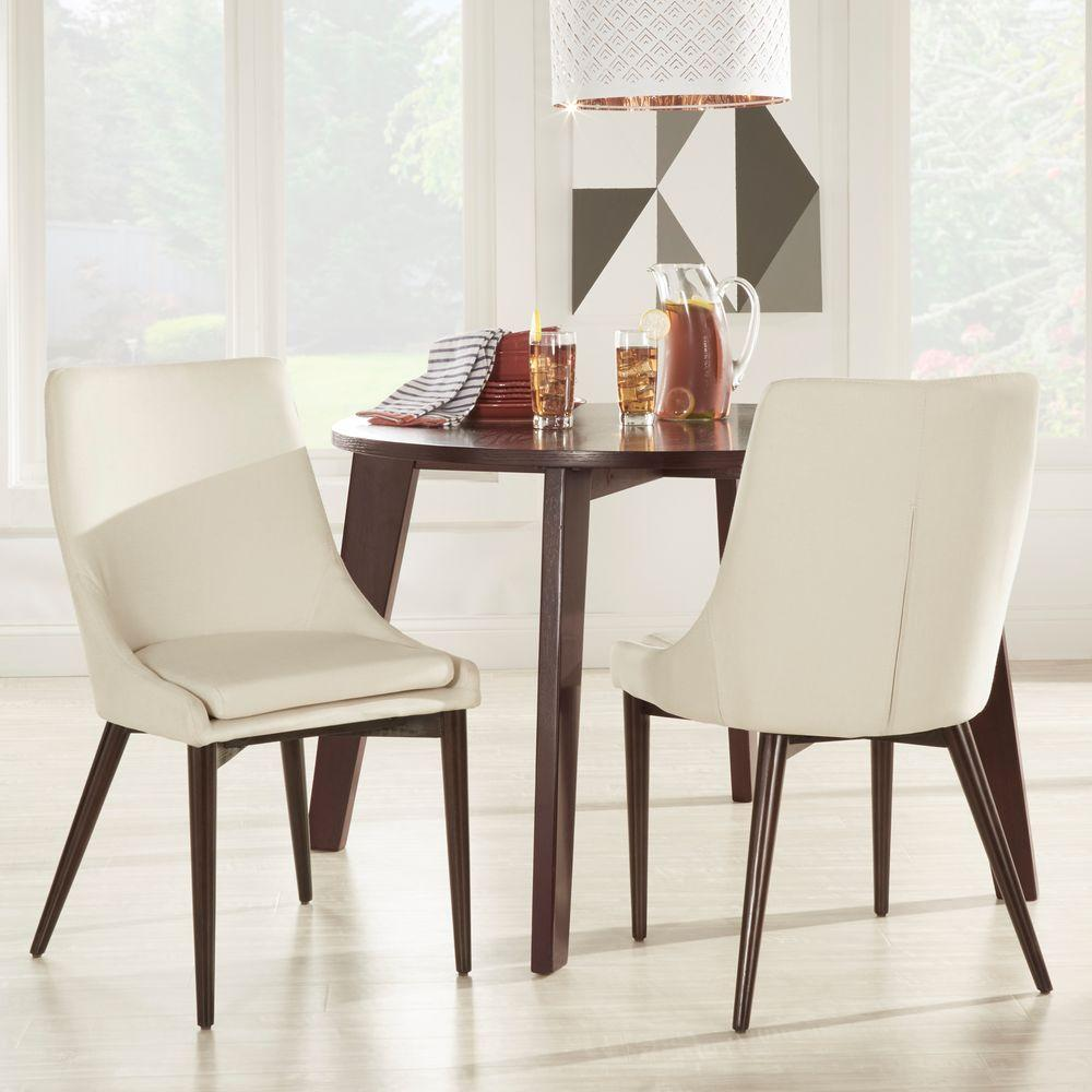 homesullivan nobleton white linen dining chair set of 2