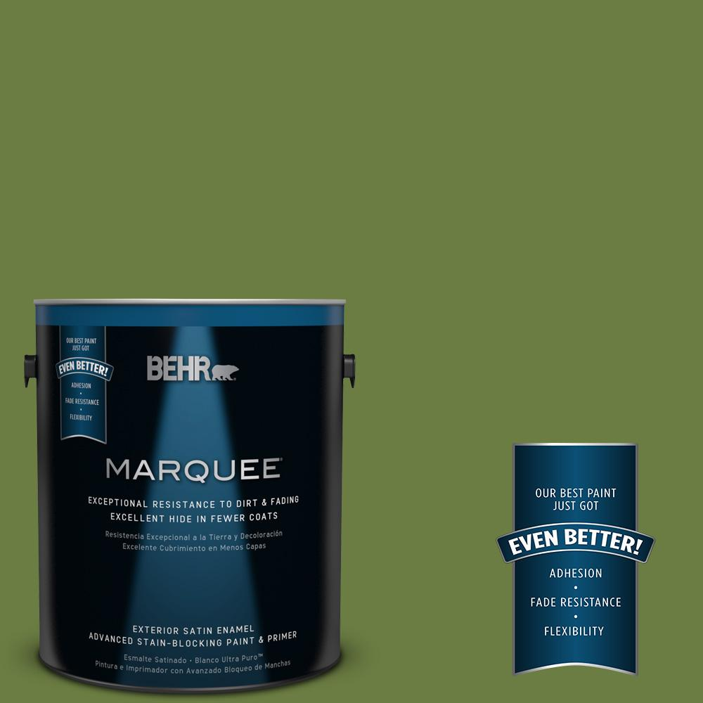 BEHR MARQUEE 1-gal. #M350-7 Healing Plant Satin Enamel Exterior Paint