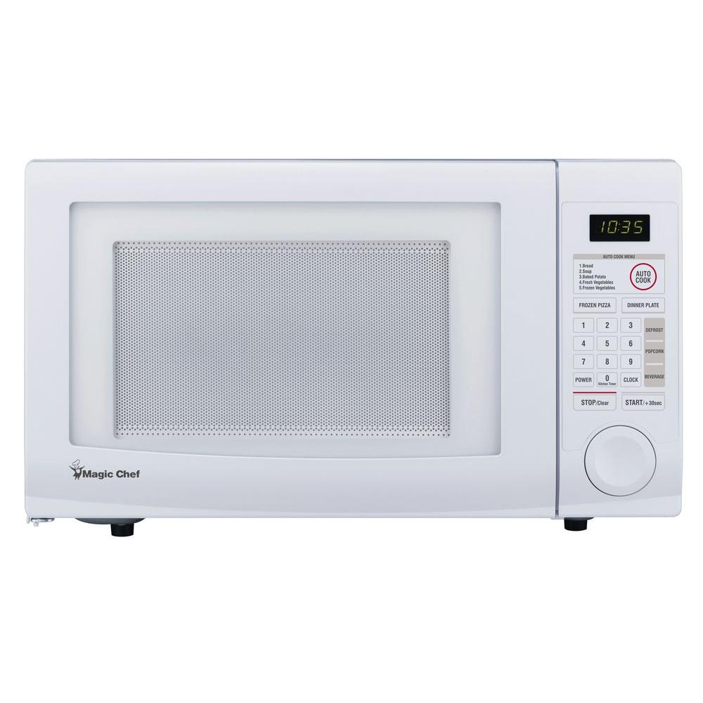 Magic Chef 1 Cu Ft Countertop Microwave In White