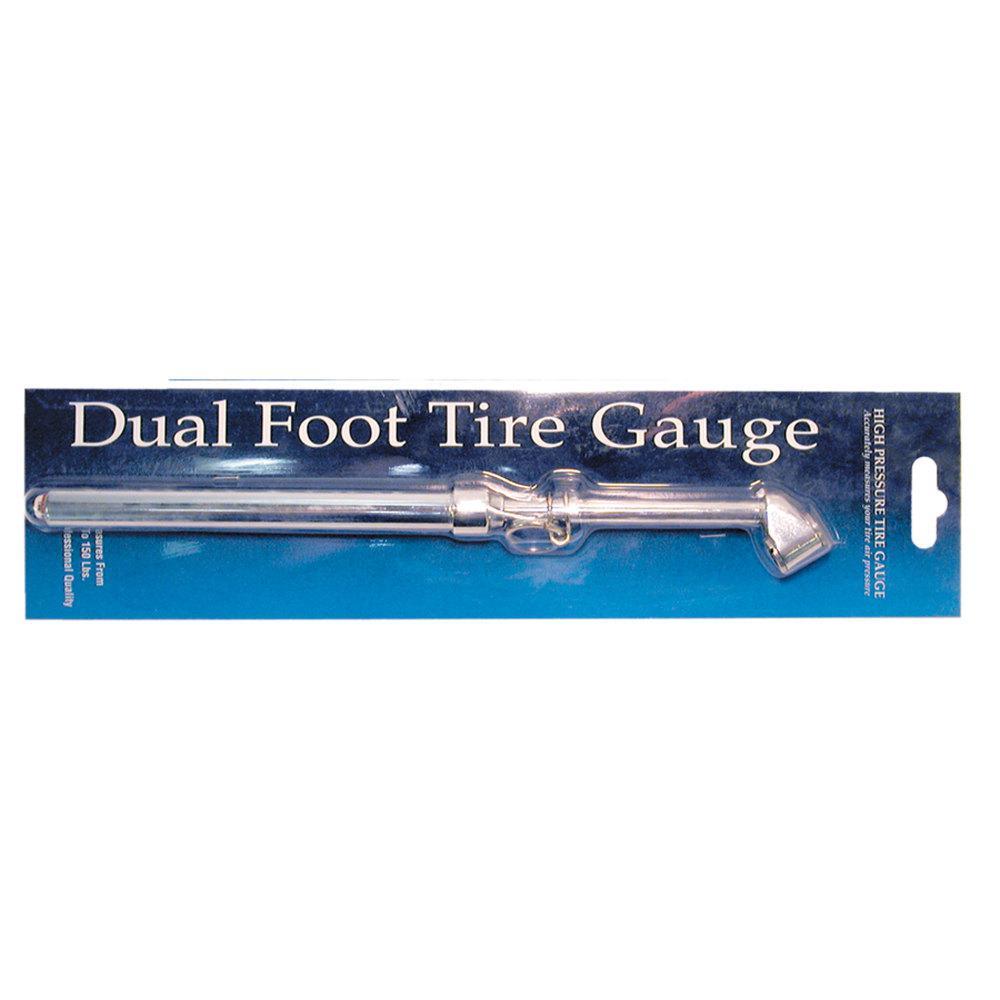 Wheel Masters 8216-6 Short Dual Foot Tire Pressure Gauge 120 lb.