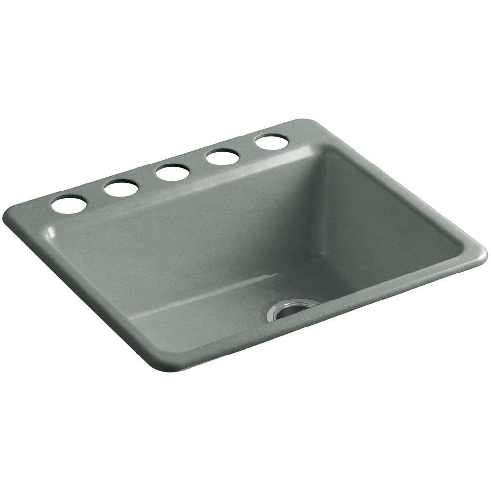 Kohler Riverby Single Basin Undermount Cast Iron Kitchen Sink