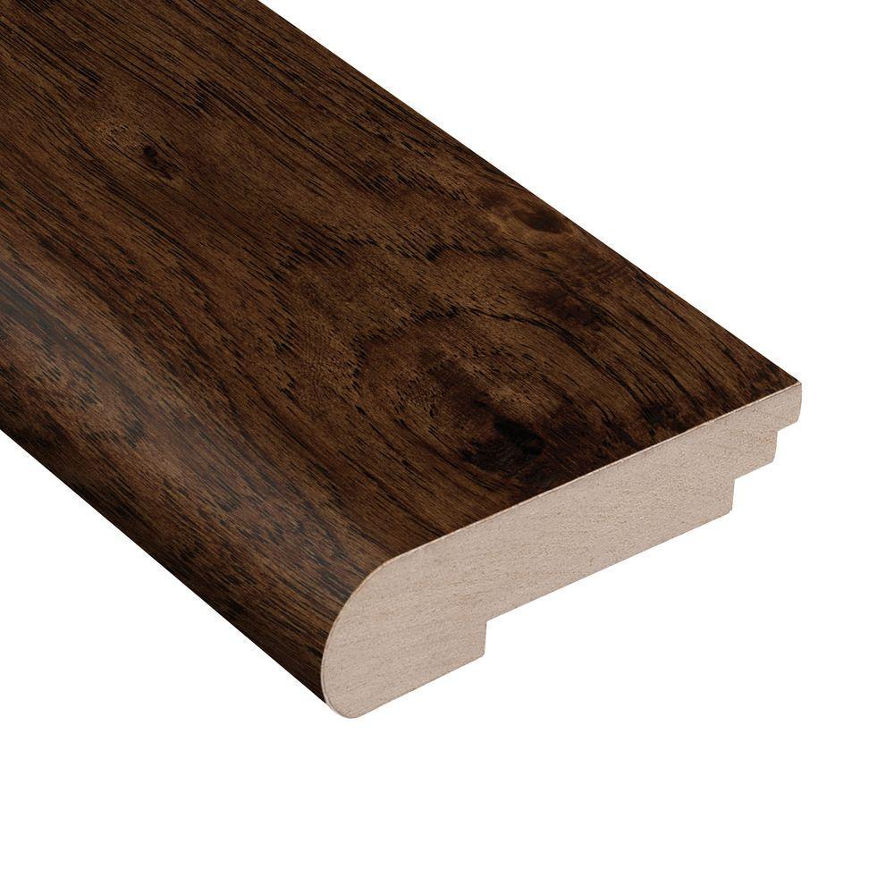 Hickory Stair Nose Wood Floor Trim Hardwood Flooring The Home Depot