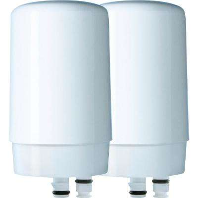Faucet Replacement Water Filter Cartridge (2-Pack)