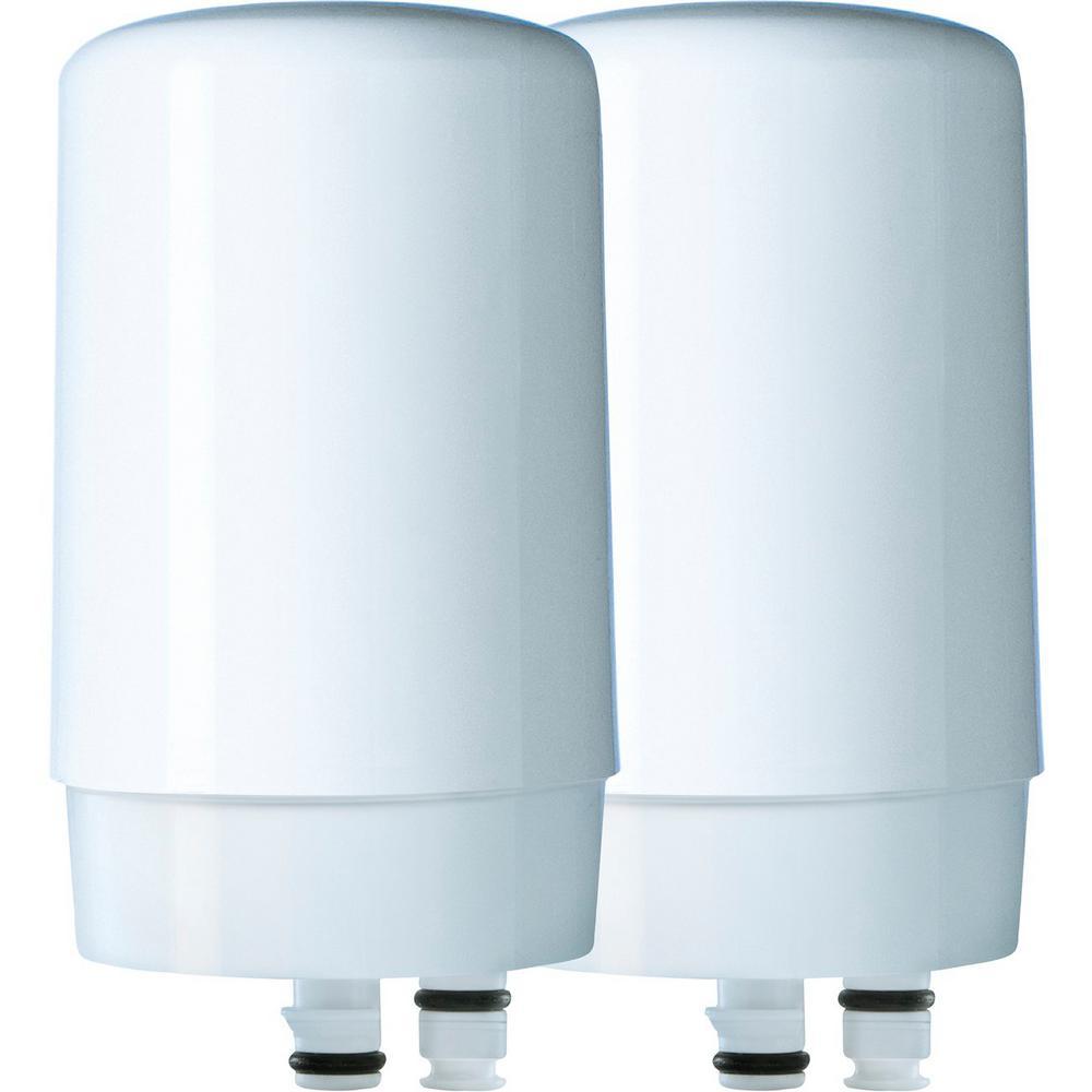 Faucet Water Filter Cartridge Replacement (2-Pack), BPA Free