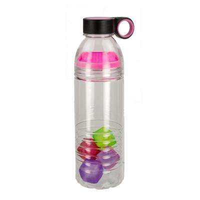 24 oz. Sports Plastic Water Bottle with Reusable Cubes