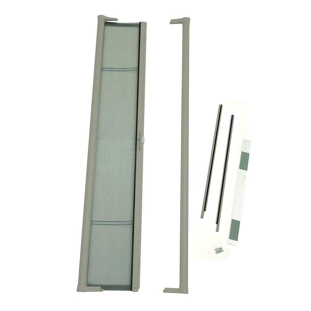 36 in. x 80 in. Brisa Sandstone Standard Height Retractable Screen Door