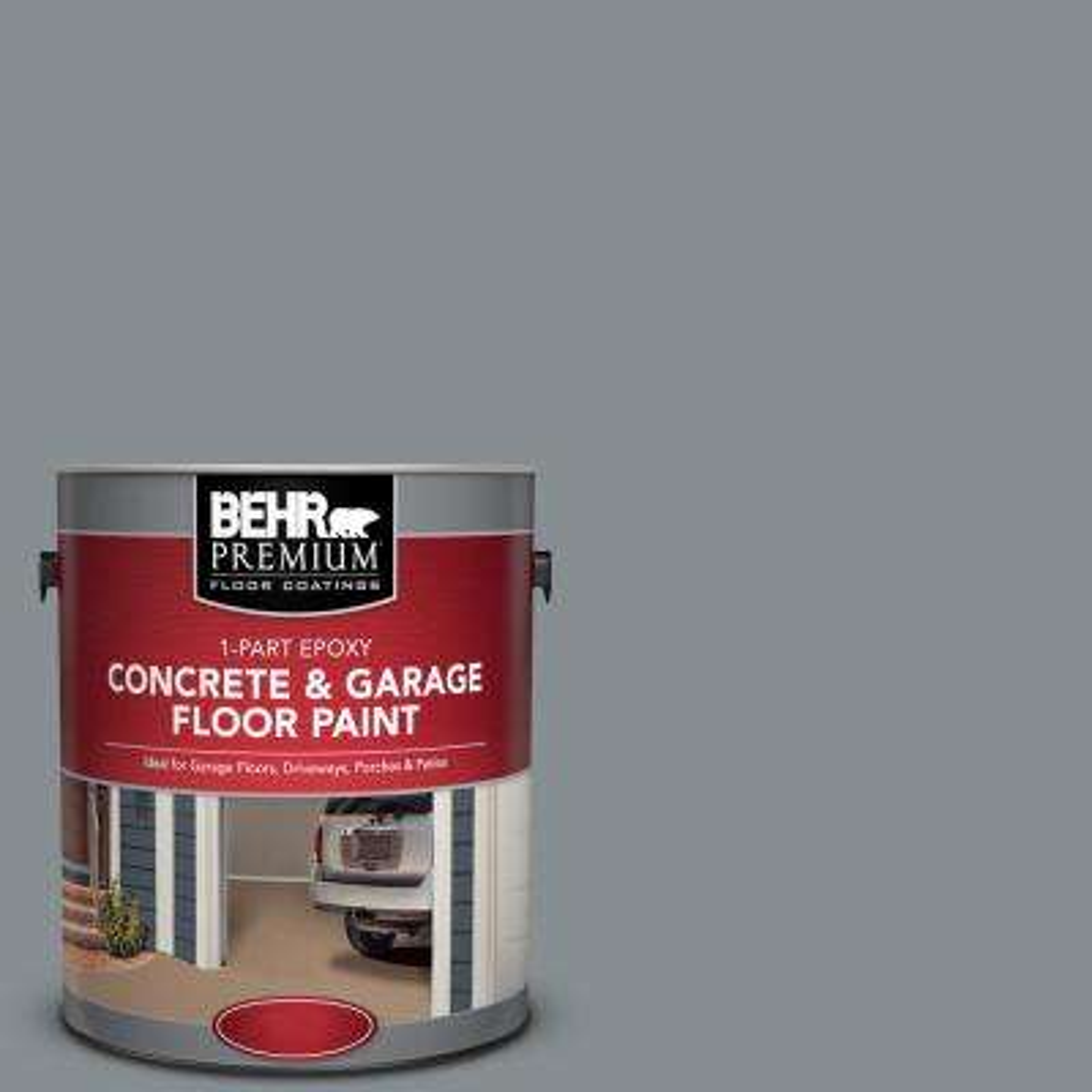 1 gal. #PFC-47 Raw Steel 1-Part Epoxy Concrete and Garage Floor Paint