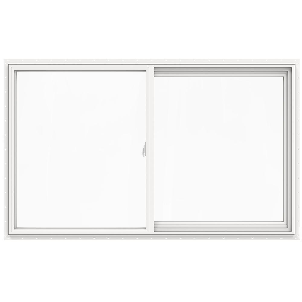 JELD-WEN 59.5 in. x 35.5 in. V-2500 Series Left-Hand Sliding Vinyl Window