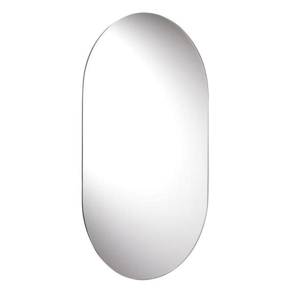 16 in. W x 26 in. H Frameless Rectangular Bathroom Vanity Mirror