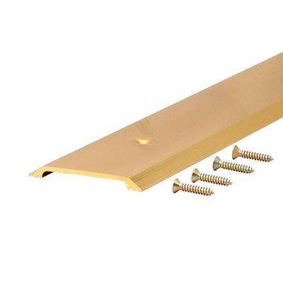 2-1/2 in. Brite Gold Smooth Flat Top Extruded Aluminum Threshold