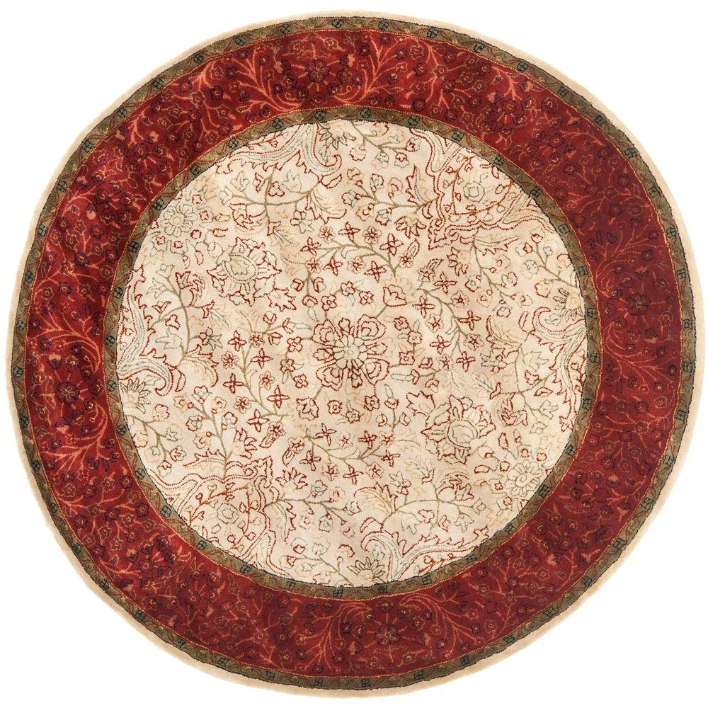Persian Legend Ivory/Rust 6 ft. x 6 ft. Round Area Rug
