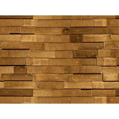 Double Roll Zurich Chocolate Wood Peel and Stick 3D Effect Self Adhesive DIY Wallpaper (covers 64,62 sq. ft.)