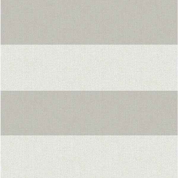 Chesapeake Awning Grey Stripe Wallpaper Sample 3113-194537SAM