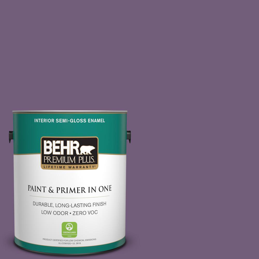 BEHR Premium Plus 1 gal. #660D-6 Zinfandel Semi-Gloss Enamel Zero VOC Interior Paint and Primer in One