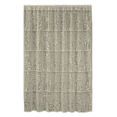 Rabbit Hollow Caf Lace Curtain 60 in. W x 96 in. L