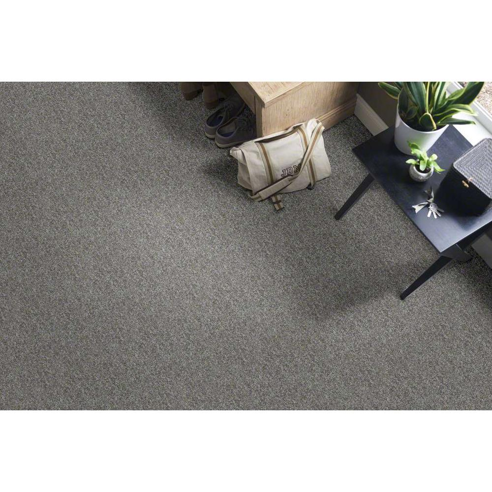 Trafficmaster Willow Color Grey Texture 12 Ft Carpet Hde9191510 The Home Depot