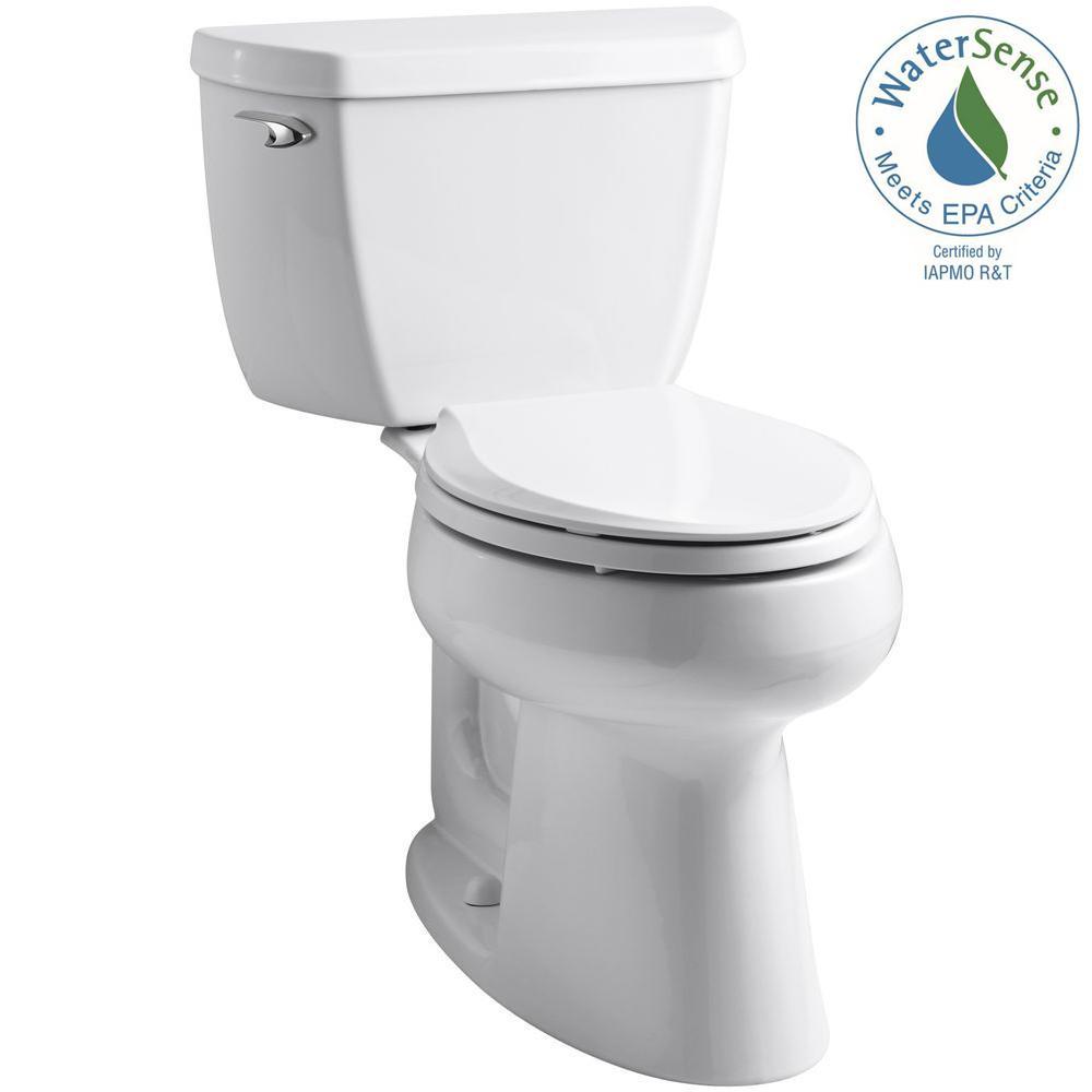 Highline 2-piece 1.28 GPF Single Flush Elongated Toilet in White