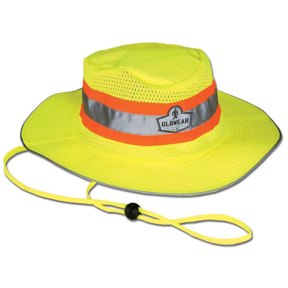 231339973e1ff GloWear L X-Large Lime Hi-Vis Ranger Hat-8935 - The Home Depot