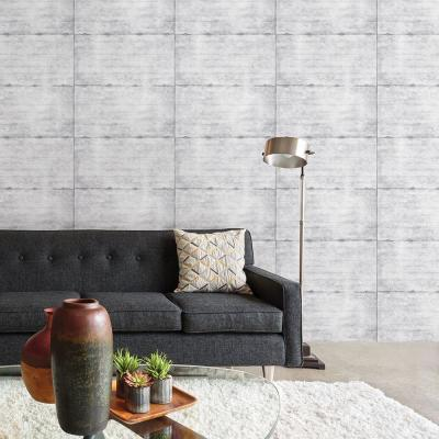 Grey Smooth Concrete Geometric Wallpaper Sample