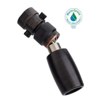 Classic Plus 1-Spray 1 in. 1.8 GPM Low Flow Fixed Shower Head with All Metal Construction and Valve in Oil Rubbed Bronze