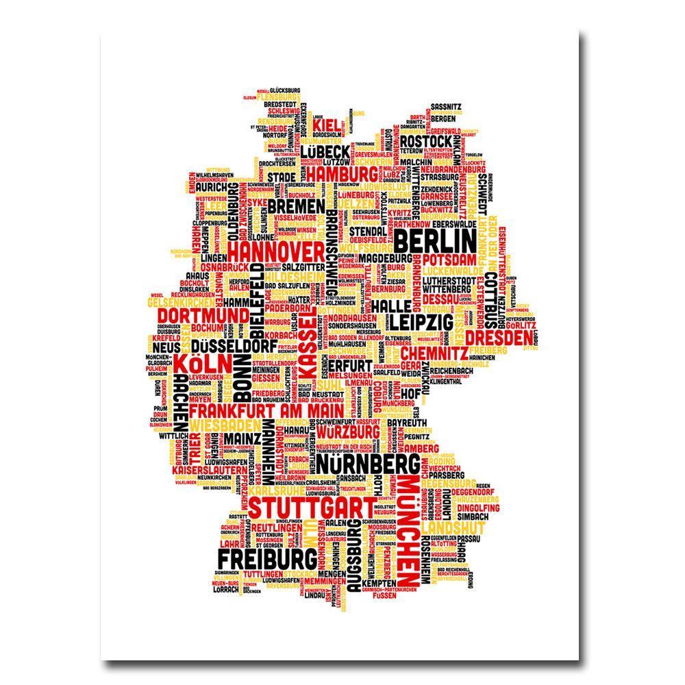 Trademark Fine Art 24 In X 32 In Germany I Canvas Art Mt0079