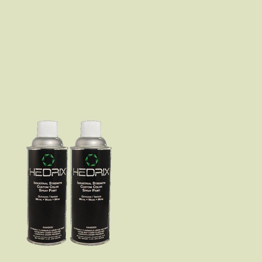Hedrix 11 oz. Match of MQ3-47 Airy Green Flat Custom Spray Paint (8-Pack)