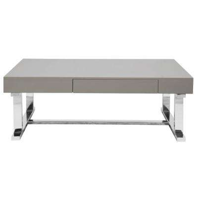 Luster Grey Coffee Table with Pull-Out Drawer