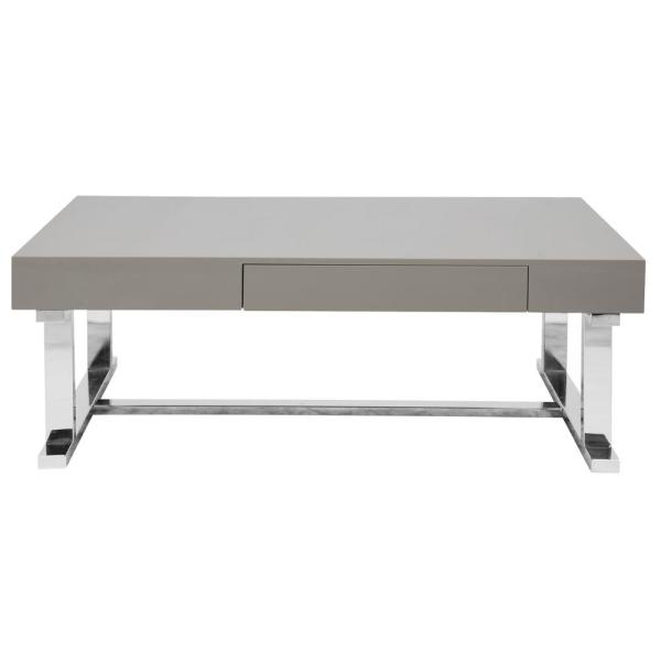 Luster Contemporary Coffee Table Gray - LumiSource