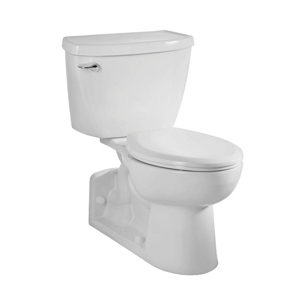 American Standard Yorkville Flowise Pressure Assisted 4 In Rough In 2 Piece 1 1 Gpf Single Flush Elongated Toilet In White 2876 100 020 The Home Depot