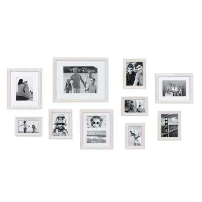 Bordeaux White Picture Frame (Set of 10)