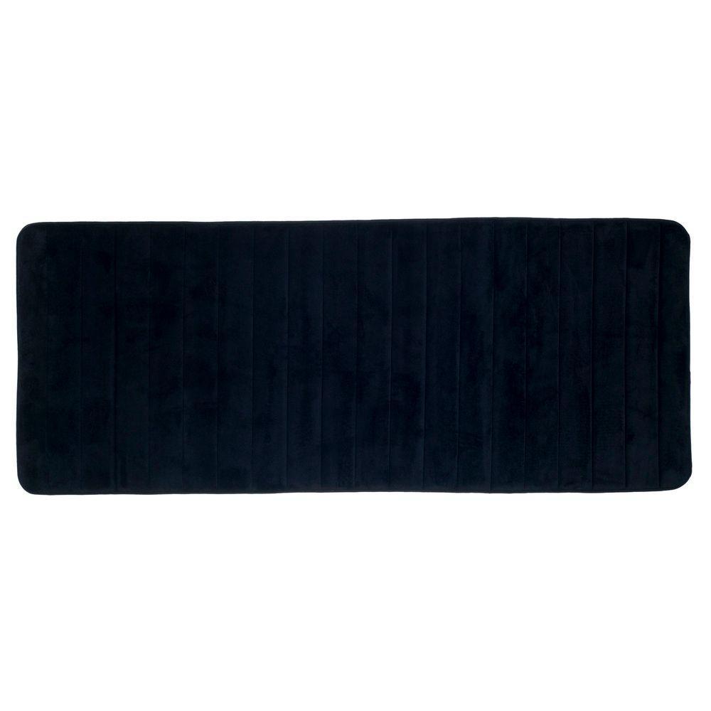 Lavish Home Black 24 25 In X 60 Memory Foam Striped Extra Long Bath