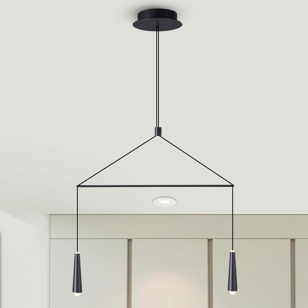 Expression 6-Watt Black Integrated LED Double Pendant Lighting Fixture