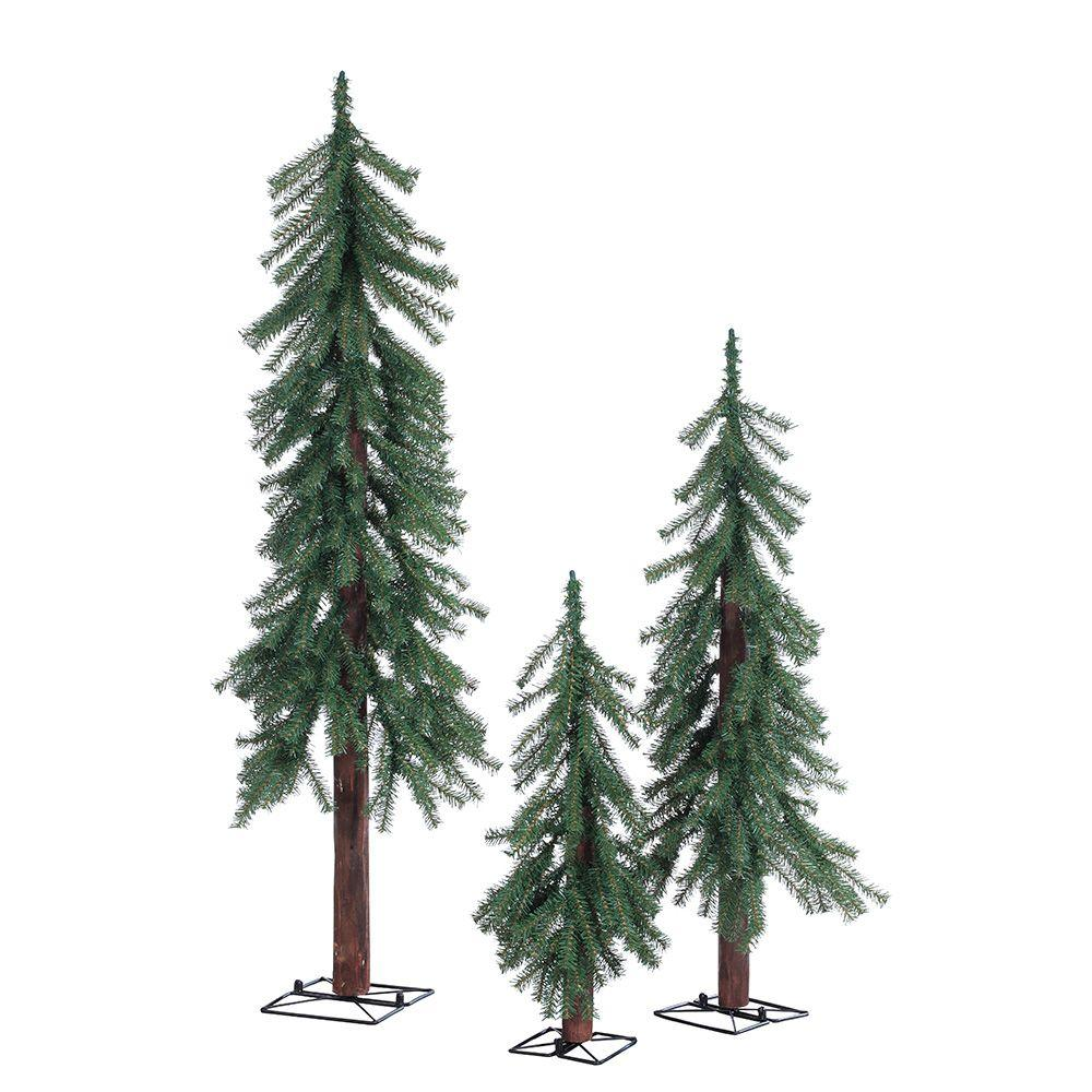 Sterling 2 ft., 3 ft. and 4 ft. Unlit Alpine Artificial Christmas ...